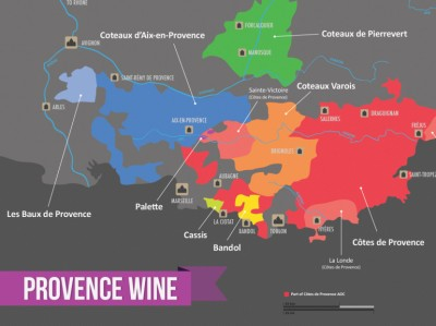 The wine regions of Provence credit: Wine Folly